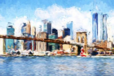 Manhattan Island - In the Style of Oil Painting-Philippe Hugonnard-Giclee Print