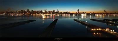 Manhattan-Lights-Philip Plisson-Art Print