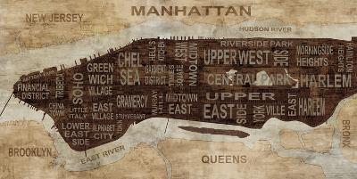Manhattan Neighborhoods-Luke Wilson-Art Print