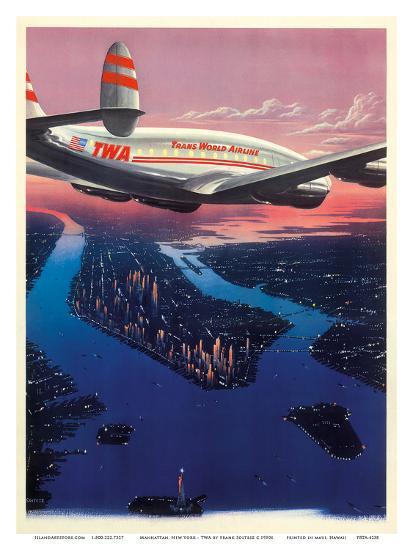 Manhattan, New York USA - TWA (Trans World Airlines)-Frank Soltesz-Art Print