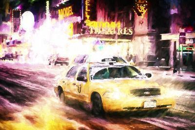 Manhattan Night Storm-Philippe Hugonnard-Giclee Print