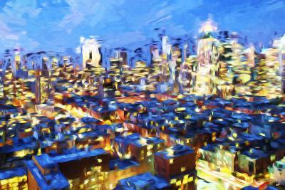 Manhattan Night VII - In the Style of Oil Painting-Philippe Hugonnard-Giclee Print