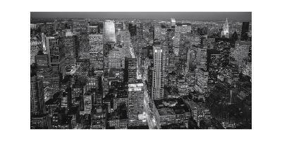 Manhattan North View Evening Panorama-Henri Silberman-Photographic Print