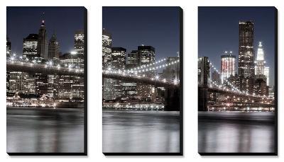 Manhattan Reflections-Jorge Llovett-Canvas Art Set