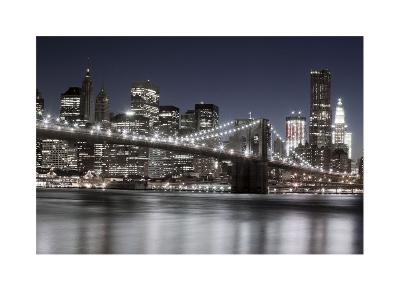 Manhattan Reflections-Jorge Llovet-Giclee Print