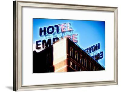 Manhattan Shine - Blue Empire-Philippe Hugonnard-Framed Photographic Print