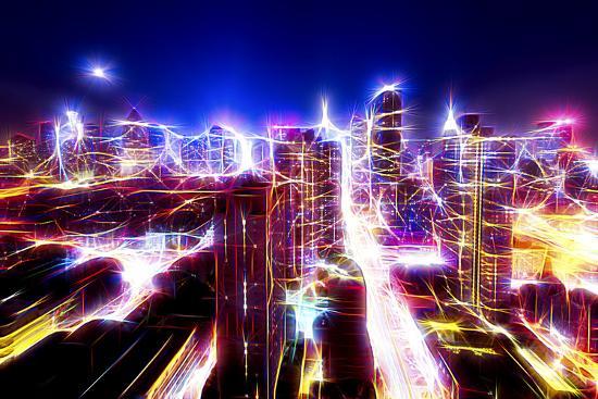 Manhattan Shine - Dazzling Night-Philippe Hugonnard-Photographic Print