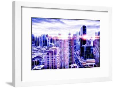 Manhattan Shine - Electric Cloud-Philippe Hugonnard-Framed Photographic Print