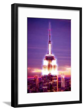 Manhattan Shine - Empire State Building-Philippe Hugonnard-Framed Photographic Print
