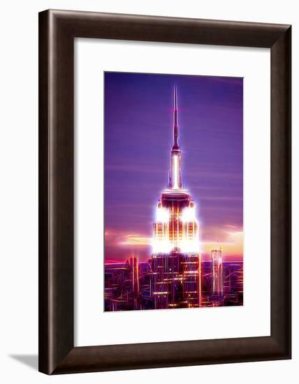 Manhattan Shine - Empire State Building-Philippe Hugonnard-Framed Photographic Print