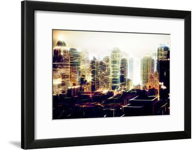 Manhattan Shine - Fog on Times Square-Philippe Hugonnard-Framed Photographic Print