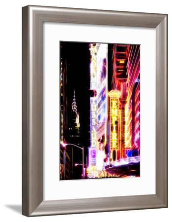Manhattan Shine - Lights on Times Square II-Philippe Hugonnard-Framed Photographic Print