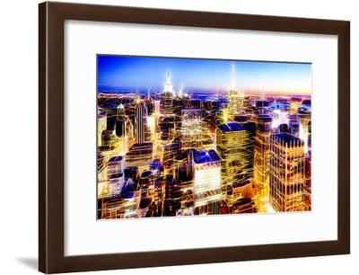 Manhattan Shine - New York Vision-Philippe Hugonnard-Framed Photographic Print