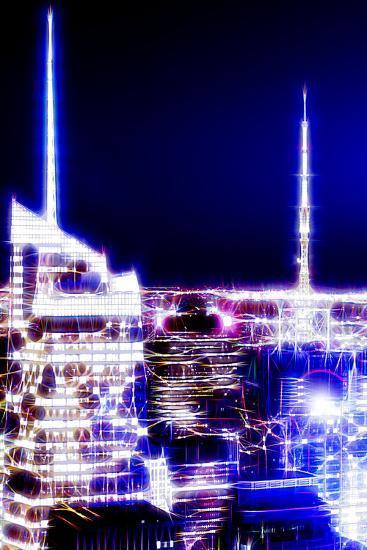 Manhattan Shine - Night Dark blue-Philippe Hugonnard-Photographic Print
