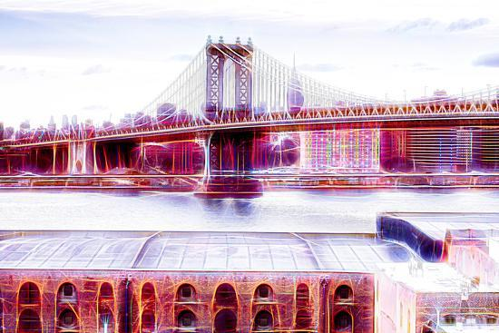 Manhattan Shine - NY Bridge-Philippe Hugonnard-Photographic Print