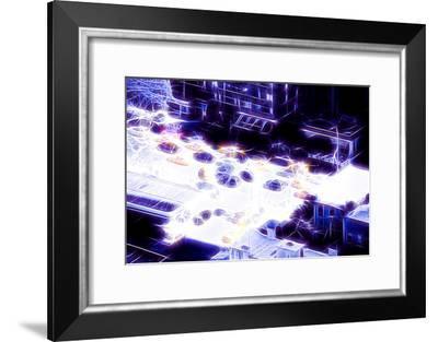 Manhattan Shine - NY Taxis-Philippe Hugonnard-Framed Photographic Print