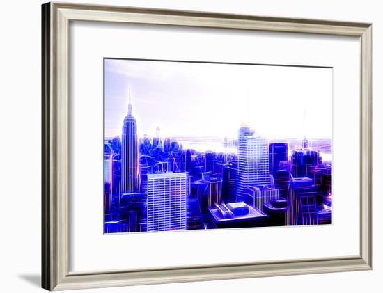 Manhattan Shine - Purple City-Philippe Hugonnard-Framed Photographic Print