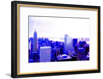 Manhattan Shine - Purple City-Philippe Hugonnard-Framed Photographic Print