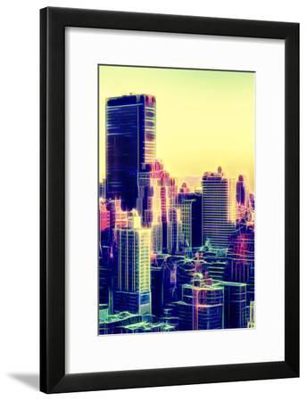 Manhattan Shine - Yellow Sunset-Philippe Hugonnard-Framed Photographic Print
