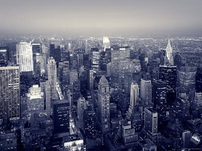 Manhattan Skyline at Night, New York City, USA-Jon Arnold-Photographic Print