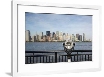 Manhattan Skyline from New Jersey-Paul Souders-Framed Photographic Print