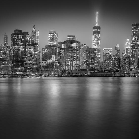 Manhattan Skyline Night-Edit-3-Moises Levy-Photographic Print