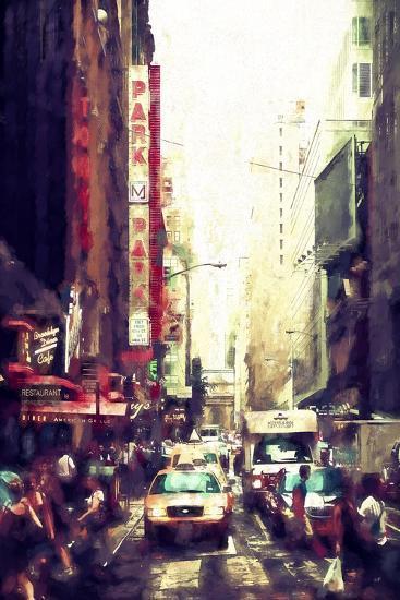 Manhattan Street II-Philippe Hugonnard-Giclee Print