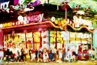 Manhattan Subway II - In the Style of Oil Painting-Philippe Hugonnard-Giclee Print