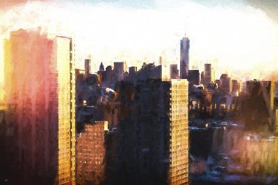 Manhattan Sunset Colors-Philippe Hugonnard-Giclee Print