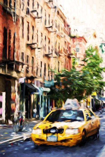 Manhattan Taxi - In the Style of Oil Painting-Philippe Hugonnard-Giclee Print