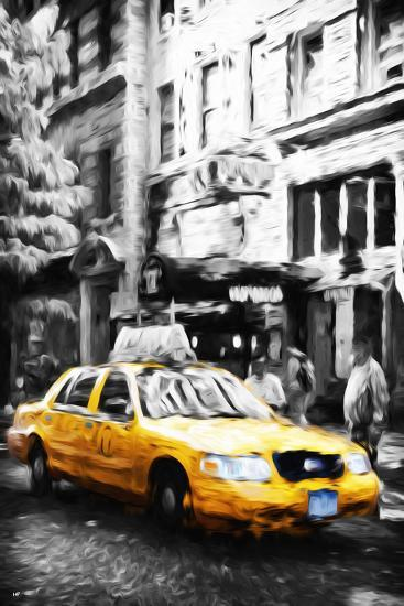 Manhattan Taxi IV - In the Style of Oil Painting-Philippe Hugonnard-Giclee Print