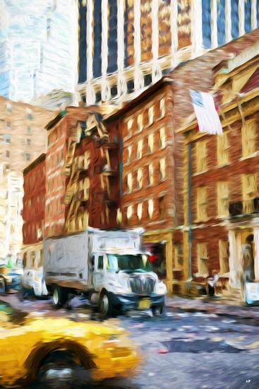 Manhattan Traffic - In the Style of Oil Painting-Philippe Hugonnard-Giclee Print