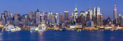 Manhattan, View of Midtown Manhattan across the Hudson River, New York, USA-Gavin Hellier-Photographic Print
