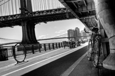 Manhattan Waterfront Bike Path B&W-EvanTravels-Photographic Print