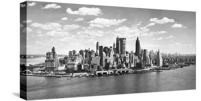 Manhattan waterfront, NYC--Stretched Canvas Print