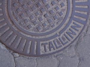 Manhole Cover Labeled Tallinn