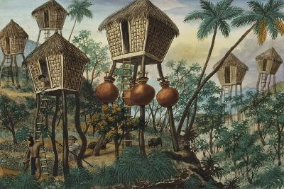 Manila and it's Environs: Huts of the Mountain Indians-Jose Honorato Lozano-Giclee Print