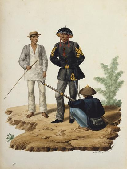 Manila and it's Environs: Officers of the Civil Guard-Jose Honorato Lozano-Giclee Print