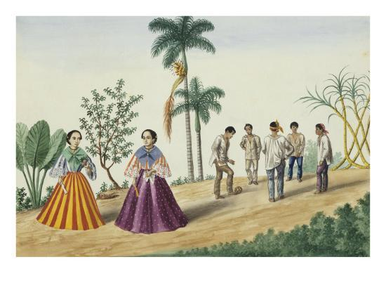 Manila and Its Environs: Filipinos Playing Football-Jose Honorato Lozano-Giclee Print