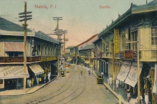 'Manila, P.I. Escolta', c1912-Unknown-Giclee Print
