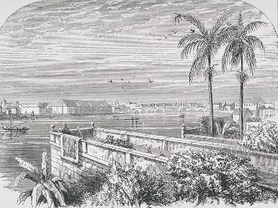 Manila, Philippines, from 'The Gallery of Geography' by Rev. Thomas Milner, Published C.1880--Giclee Print