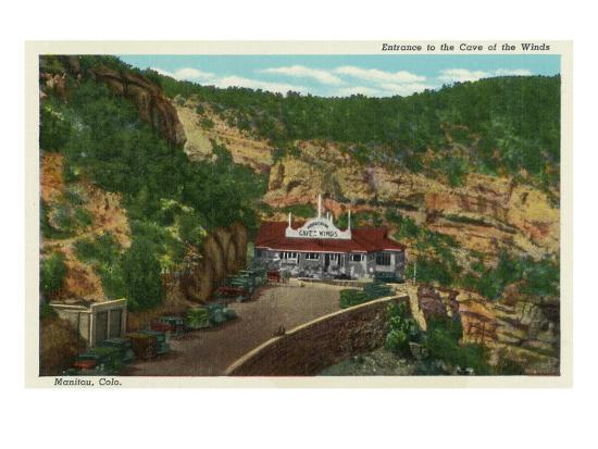 Manitou Springs, Colorado, View of the Cave of the Winds Entrance-Lantern Press-Art Print