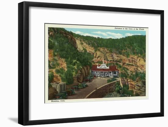 Manitou Springs, Colorado, View of the Cave of the Winds Entrance-Lantern Press-Framed Art Print