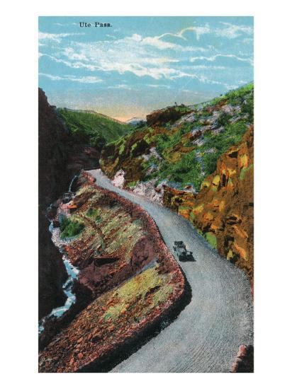 Manitou Springs, Colorado, View of Ute Pass-Lantern Press-Art Print