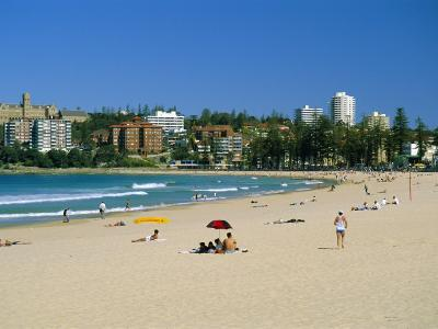 Manly Beach, Manly, Sydney, New South Wales, Australia-Amanda Hall-Photographic Print
