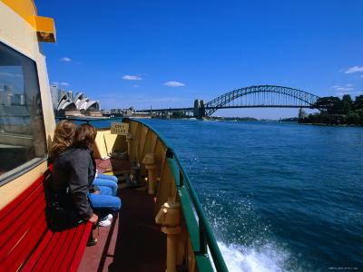 Manly Ferry Returning to the City, Sydney, New South Wales, Australia-Greg Elms-Photographic Print