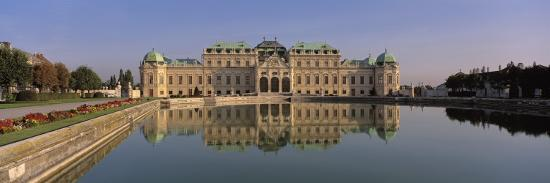 Manmade Lake Outside a Vintage Building, Belvedere Palace, Vienna, Austria--Photographic Print