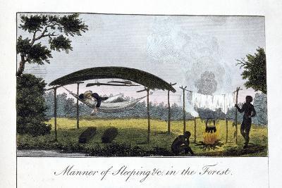 Manner of Sleeping in the Forest, 1813-John Gabriel Stedman-Giclee Print
