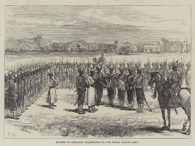 Manner of Swearing in Recruits to Our Indian Native Army-Charles Robinson-Giclee Print