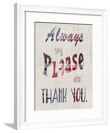 Manners I-Alicia Ludwig-Framed Art Print